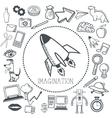 Doodle icon design imagination icon draw concept vector image vector image