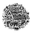 feminist lettering quote vector image