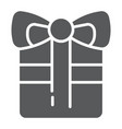 gift glyph icon celebration and package present vector image vector image