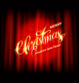 golden lettering with christmas vector image vector image