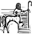 greek centaur vector image vector image