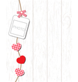 Greeting card with valentine day vector image vector image