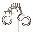 handcuffs icon image vector image