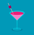 isometric cocktail in flat style vector image vector image