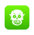 living dead icon digital green vector image vector image