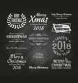 merry christmas and happy new year 2087 typography vector image vector image