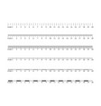 metric imperial rulers centimeter measuring tool vector image