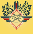 Minimalistic Cycling Summer Inspired Background vector image vector image