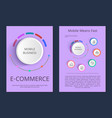 mobile business e-commerce vector image