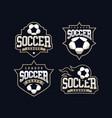 modern professional soccer logo set for sport team vector image vector image