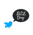 national bird day greeting card for bird lovers vector image vector image