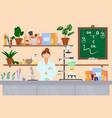 organic laboratory flat style design vector image
