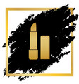 pomade simple sign golden icon at black vector image