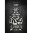 poster bottle beer with hand drawn lettering vector image vector image