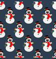 pug in snowman costume seamless pattern vector image vector image