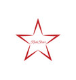 red star symbol vector image vector image