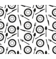 seamless pattern with knives forks spoons and p vector image vector image