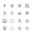 set 16 icons for software application vector image