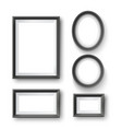 set of modern minimalist black blank picture frame vector image vector image