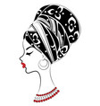 silhouette a head a sweet lady a bright vector image