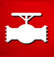 simple icon connecting pipes valve vector image vector image