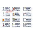 sketch alcohol drinks labels set vector image vector image