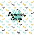 summer camp postcard design vector image vector image