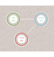three steps infographics vector image vector image