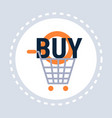 trolley buy cart shopping icon concept flat vector image vector image