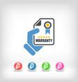 warranty icon vector image vector image