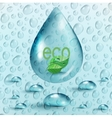 Water drops ecology background vector image vector image