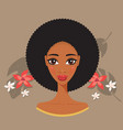 young beautiful black woman african spa and beauty vector image vector image