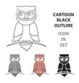 owl icon cartoon singe animal icon from the big vector image