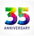35 anniversary color logo vector image vector image