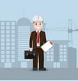 american engineer businessman vector image