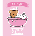 Bear in the bath vector image vector image