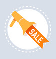 big sale label megaphone icon shopping special vector image vector image