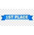 blue ribbon with 1st place text vector image