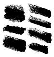 brush strokes paintbrush set diagonal vector image