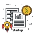 business start up flat icons vector image vector image