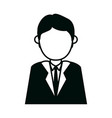 businessman character cartoon male executive vector image