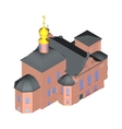 Church building Isometric 3D icon vector image vector image