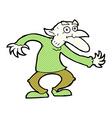 comic cartoon goblin vector image