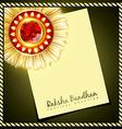 creative indian rakhi vector image vector image