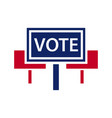 election topic icon vector image vector image