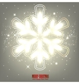 Elegant glowing snowflake Background vector image vector image