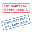 endometrial hyperplasia textile stamps vector image vector image