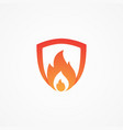 fire shield shaped vector image vector image