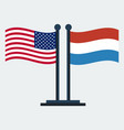 flag of united states and netherlandsflag stand vector image