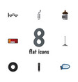 flat icon parts set of steels shafts wheel vector image vector image